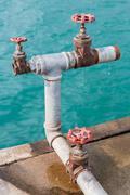 Water valves Stock Photos