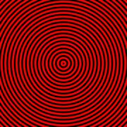 a0006 hypnotize red and black circle graphic - stock photo