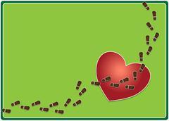 Trampled heart Stock Illustration