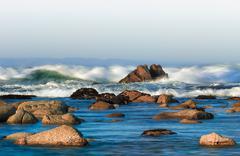 ocean's fury - stock photo