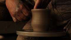 Potter creating a pitcher - stock footage