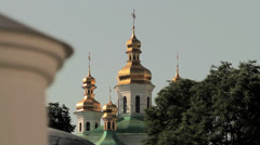 Domes of Kiev Pechersk Lavra Stock Footage