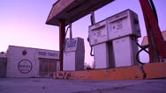 Stock Video Footage of Abandoned Route 66 Gas Station