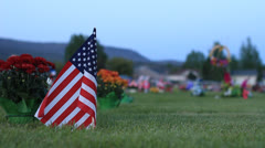 Stock Video Footage of Veterans grave site