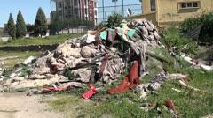Landfill of debris Stock Footage