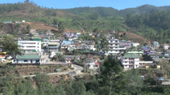 India Kerala Western Ghats Munnar hillside town and cultivated slopes 4 Stock Footage