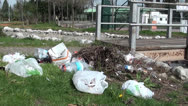 Stock Video Footage of Litter in the park