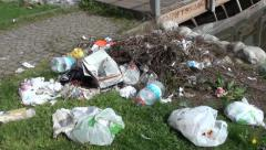 Waste on the ground zoom out Stock Footage