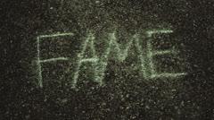 Erasing fame erase Stock Footage