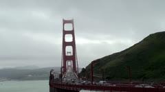 View of Golden Gate Bridge. San Francisco, California. Stock Footage