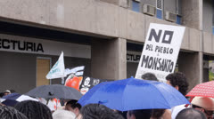 News: Global March Against Monsanto May 25, 2013 Stock Footage