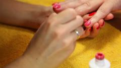 Manicure Stock Footage