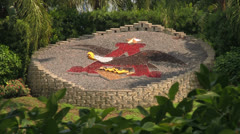 Anheuser-Busch Emblem Display at Seaworld Orlando Stock Footage