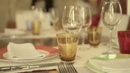 Stock Video Footage of Setting a table for dinner