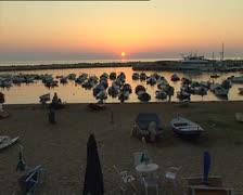 PESCHICI sunset over the marina Stock Footage