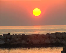 PESCHICI sunset over the sea Stock Footage