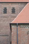 Stock Photo of brick church in germany