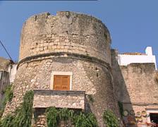 PESCHICI castle pan Stock Footage