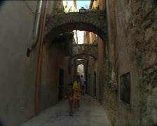 VICO GARGANO typical alley Stock Footage
