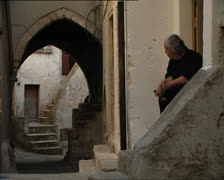 VICO GARGANO woman in typical alley - stock footage