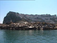PESCHICI marina camera boat Stock Footage