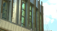 Scottish Parliament blg rear view 2. 50Mbs Stock Footage