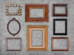 many frames - stock photo