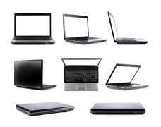 laptop collection - stock photo