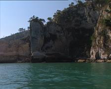 PESCHICI Gargano coast camera boat 2 Stock Footage