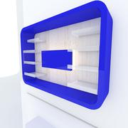 Color shelf with white wall Stock Illustration