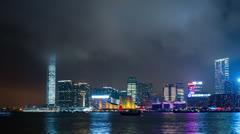 Tsim sha tsui in hong kong Stock Footage
