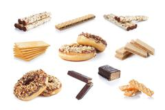 snack collection - stock photo