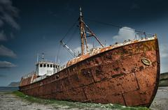 Rusty Shipwreck Stock Photos