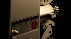 Bolex super 8 projector lens Stock Footage