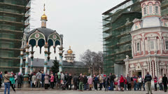 The Trinity Lavra of St. Sergius, Sergiev Posad city, Russia Stock Footage