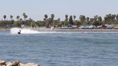 Jet Ski Around Buoy - stock footage