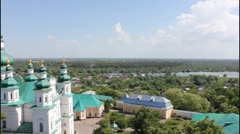Trinity Cathedral in Chernihov - stock footage