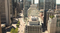 Toronto streets view from above Stock Footage