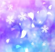 flower petal purple, blue, pink background - stock illustration