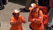 Stock Video Footage of Garbage Men, Street Cleaners, Sanitation Workers