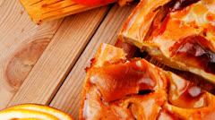 Baked food : apple pie Stock Footage