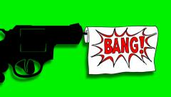 GUN SHOT Stock Footage