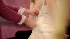 Preparations for the wedding ceremony Stock Footage