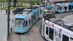 Lightrail in Istanbul (Editorial) Stock Footage