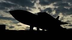 Alabama SpaceAndRocketCenter shuttle clouds - stock footage
