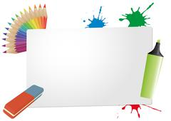 sheet color office - stock illustration