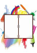 blank notebook - stock illustration