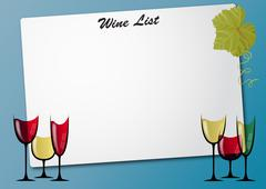 Stock Illustration of wine glass sheet