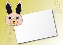 Rabbit sheet Stock Illustration