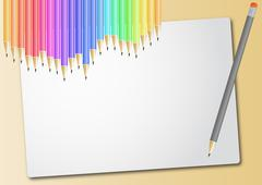 Pencil sheet Stock Illustration